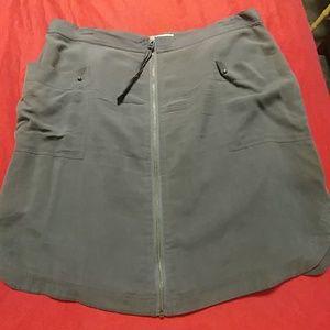 Banana Republic 100% Silk Zipper Skirt